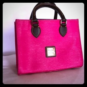 Dooney&Burke hot pink mini satchel w crossbody